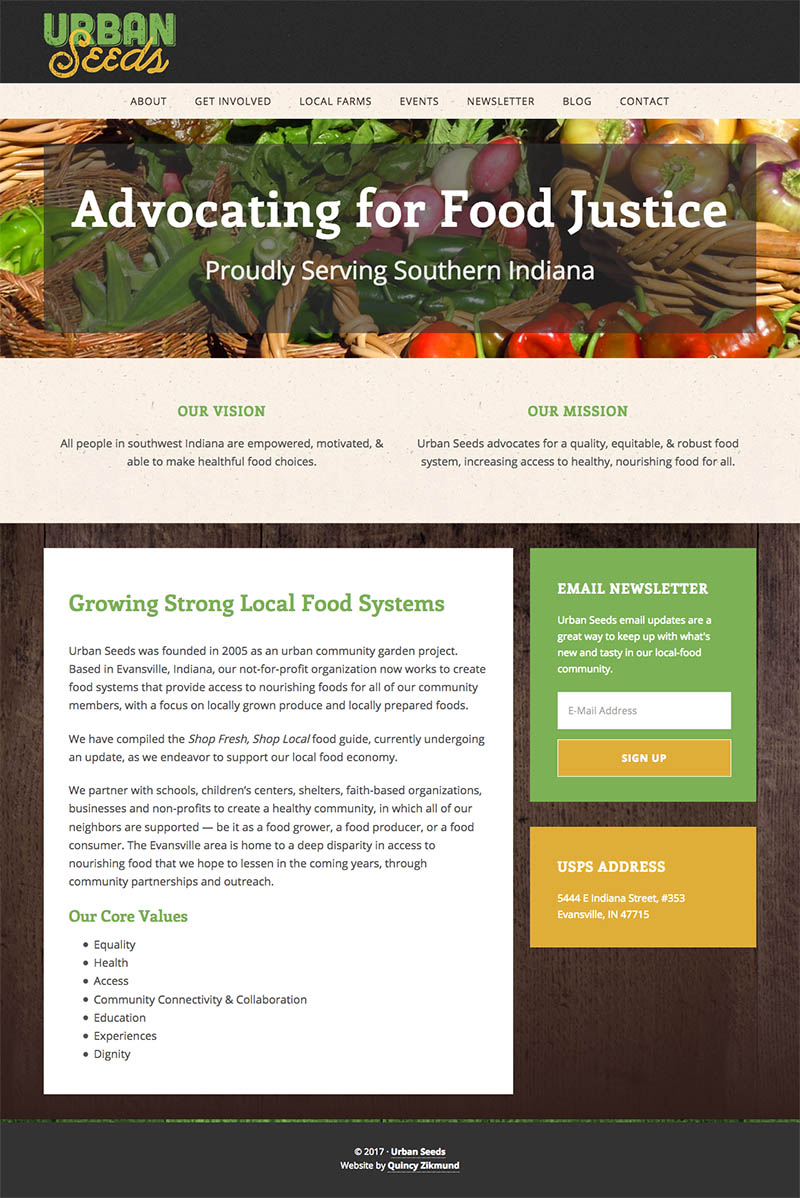 Urban Seeds Website
